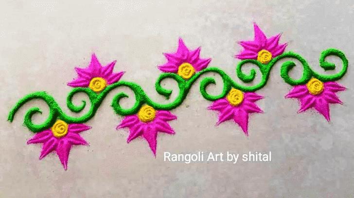 Angelic Border Rangoli