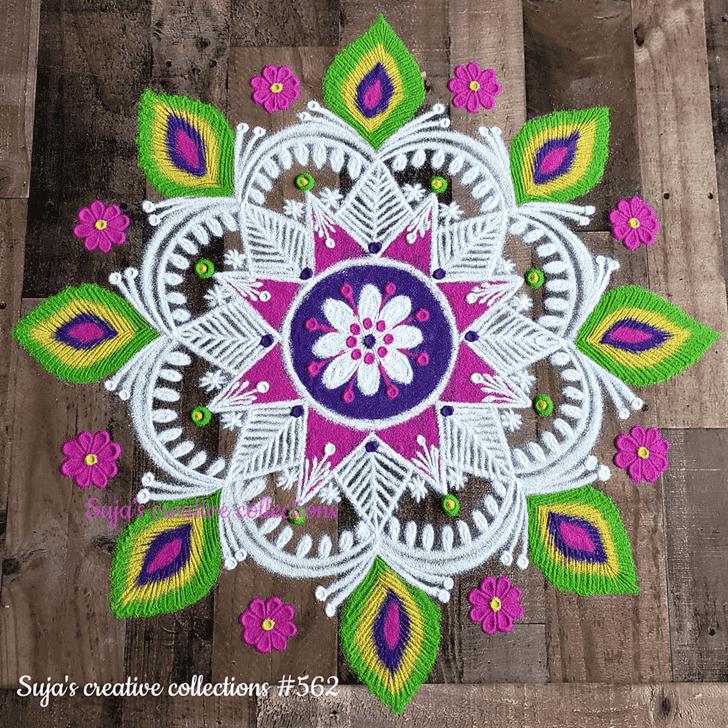 Admirable Chaitra Purnima Rangoli Design