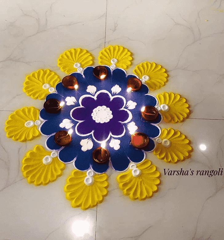 Delightful Chaitra Purnima Rangoli