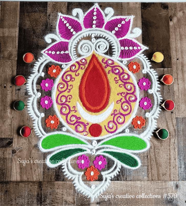 Enticing Chaitra Purnima Rangoli