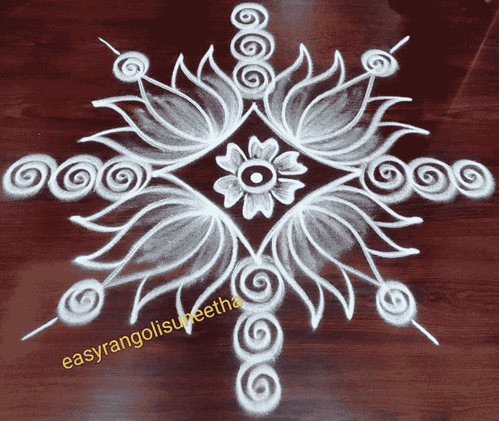 Angelic Chalk Rangoli