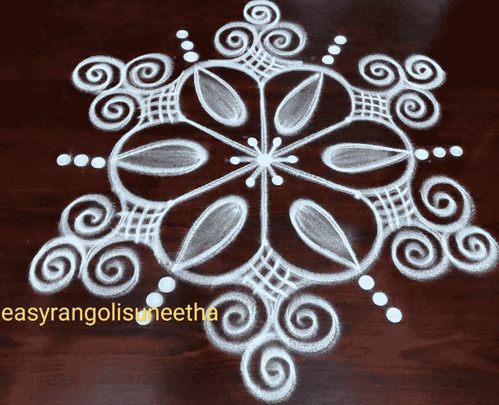 Beauteous Chalk Rangoli