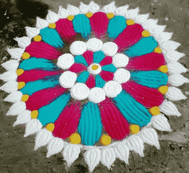 Angelic Circle Rangoli