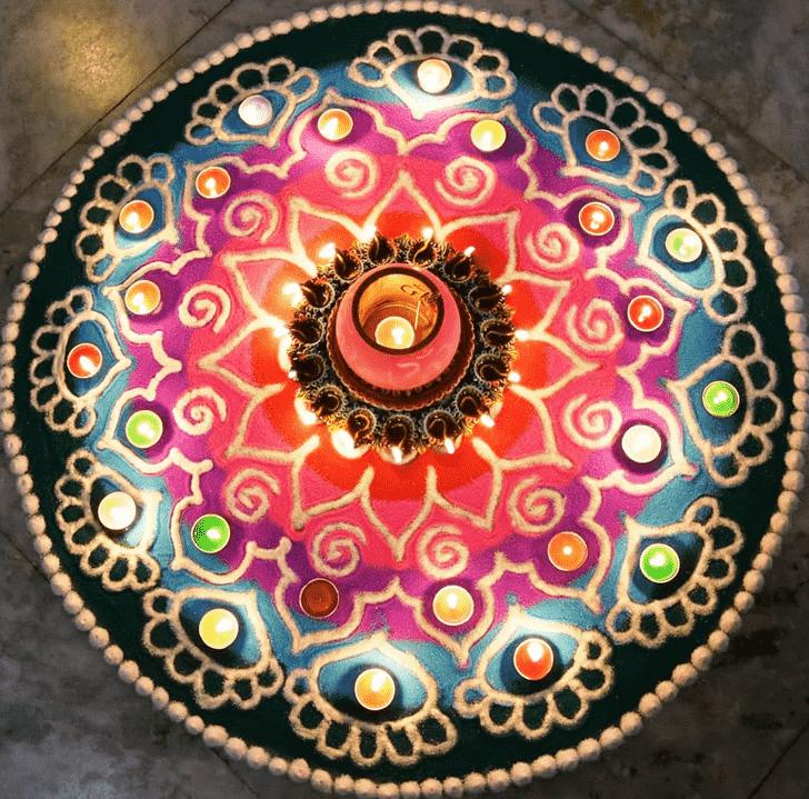 Beauteous Circle Rangoli
