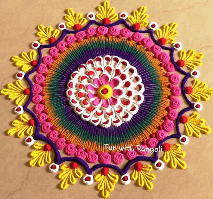 Charming Circle Rangoli