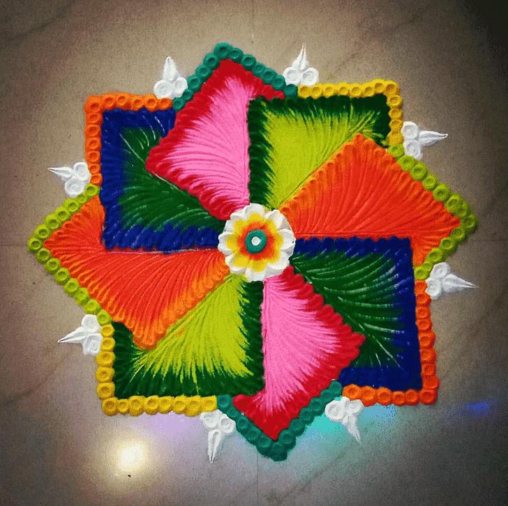 Alluring Creative Rangoli