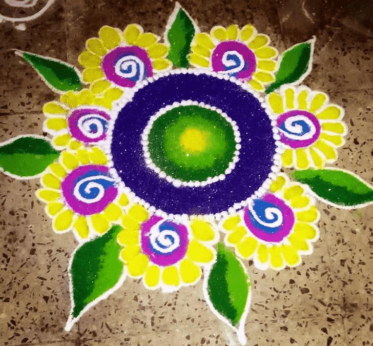 Bewitching Creative Rangoli