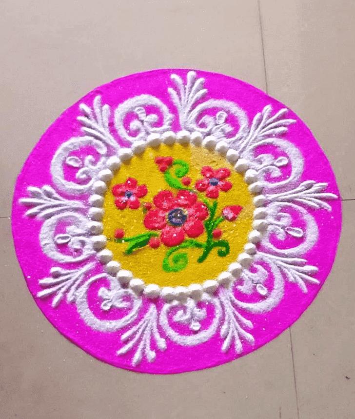 Admirable Cute Rangoli Design
