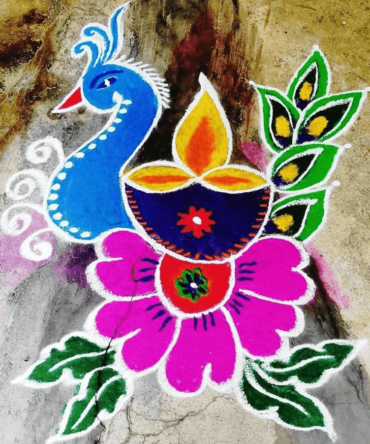 Admirable Deepavali Rangoli Design