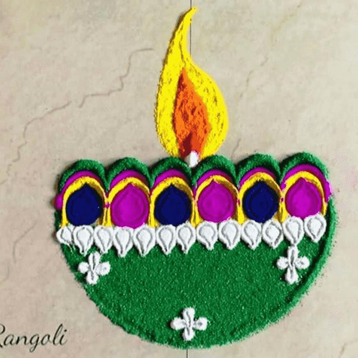 Appealing Deepavali Rangoli