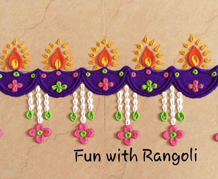 Captivating Deepavali Rangoli