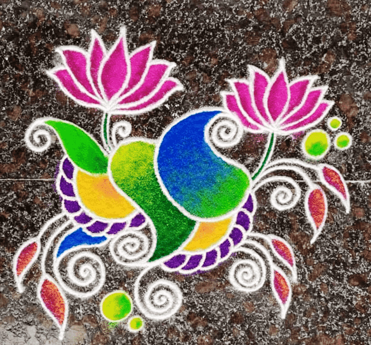 Admirable Dhanu Sankranti Rangoli Design