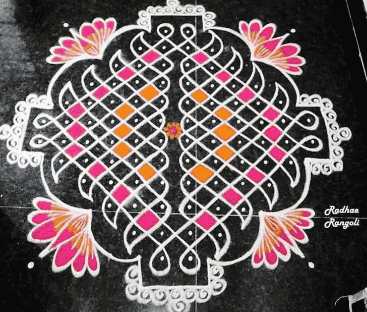 Alluring Dhanu Sankranti Rangoli