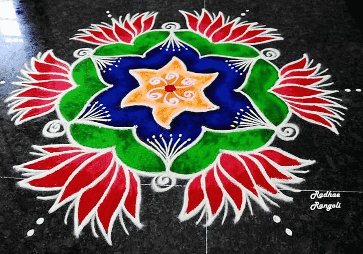 Beauteous Dhanu Sankranti Rangoli