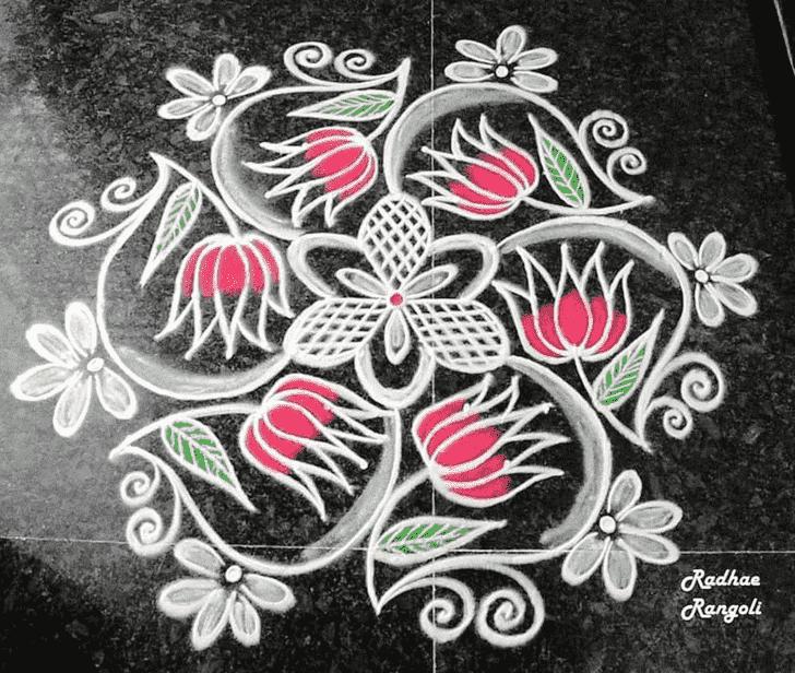 Captivating Dhanu Sankranti Rangoli