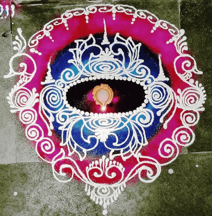 Admirable Diwali Rangoli Design
