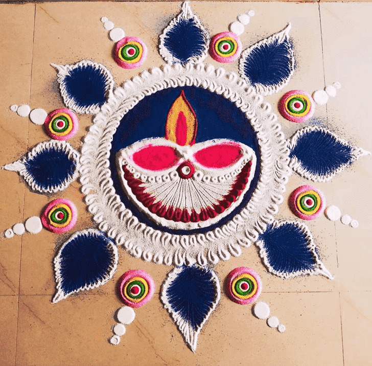 Alluring Diwali Rangoli