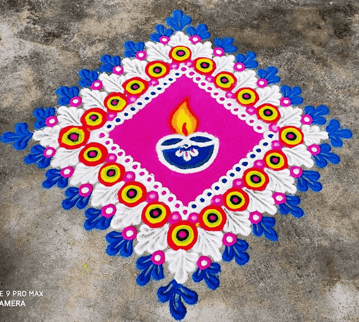 Beauteous Diwali Rangoli