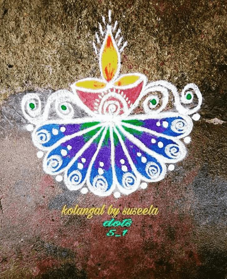 Bewitching Diwali Rangoli