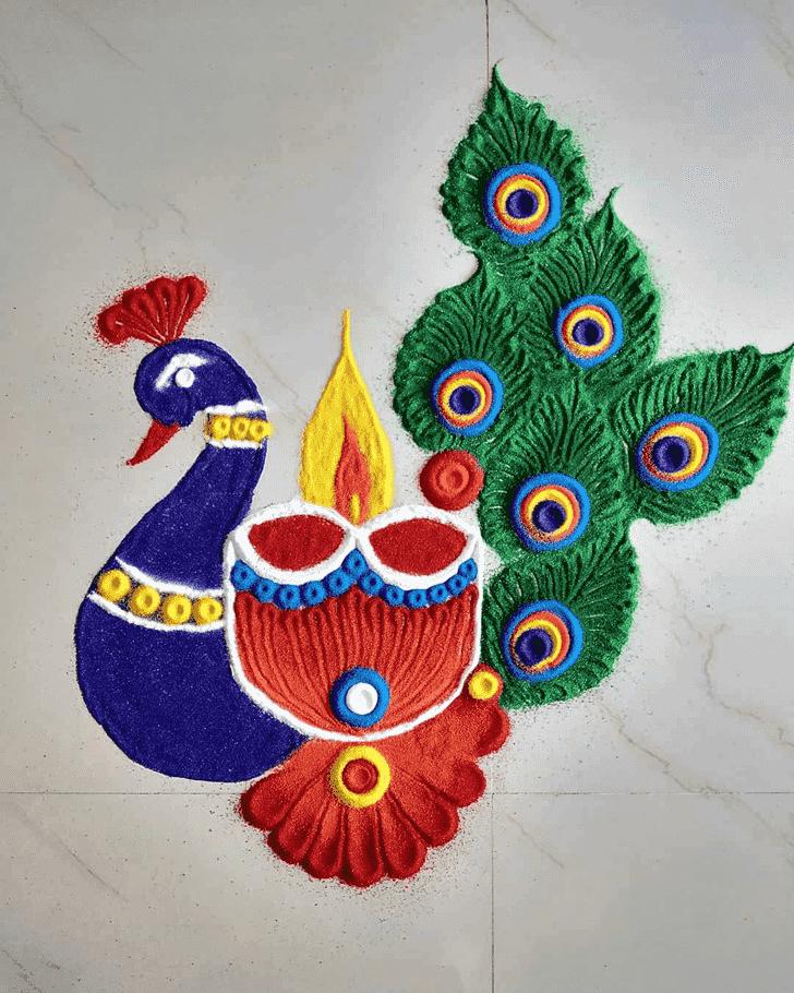 Classy Diwali Rangoli