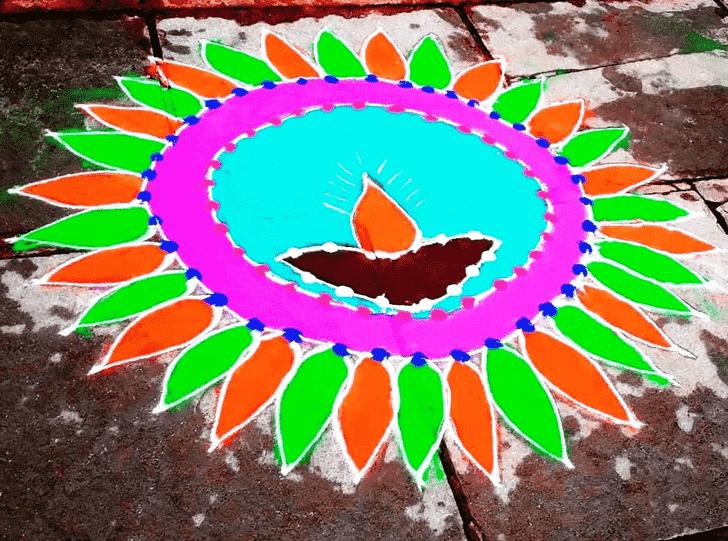 Hard Diwali Rangoli