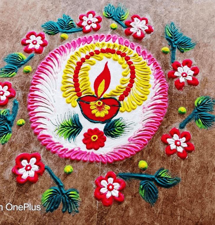 Dazzling Diwali Rangoli