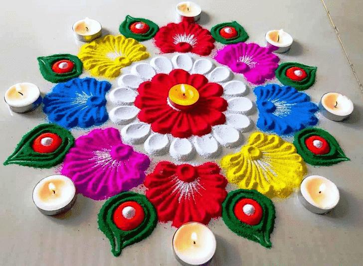 Delicate Diwali Rangoli