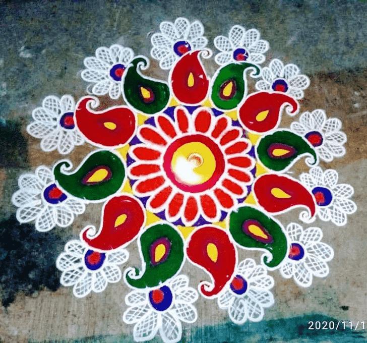 Delightful Diwali Rangoli