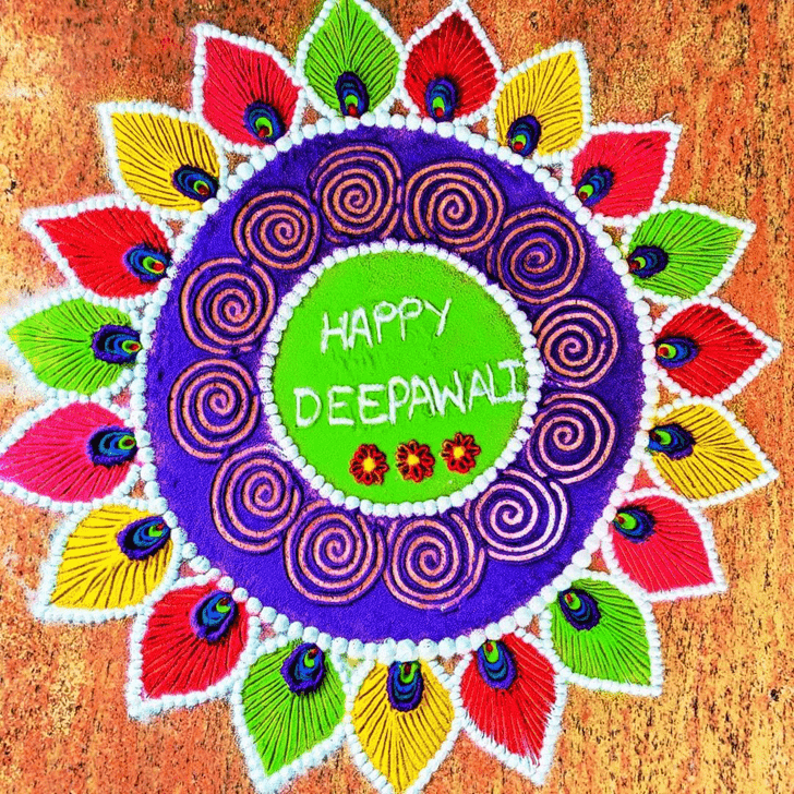 Elegant Diwali Rangoli