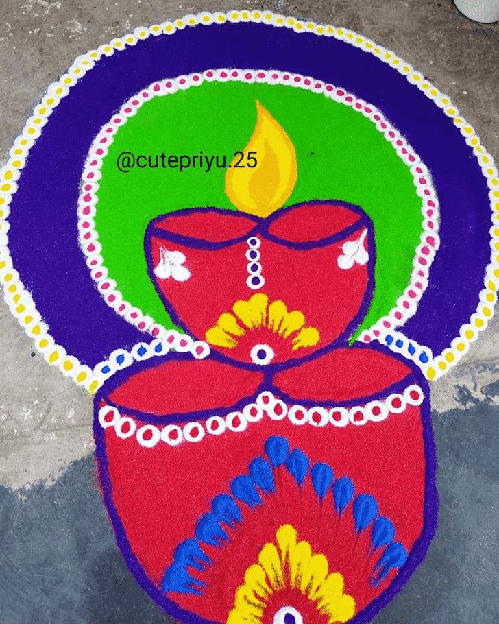 Enthralling Diwali Rangoli