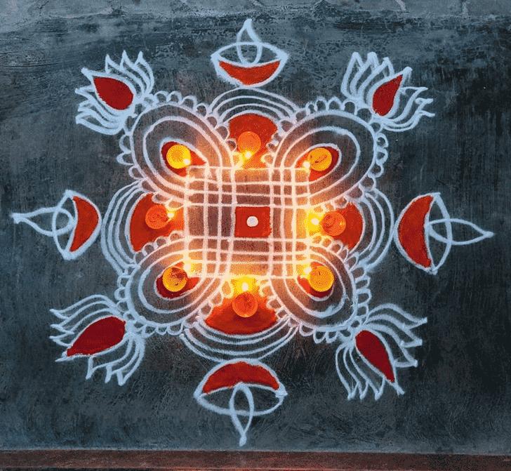 Enticing Diwali Rangoli