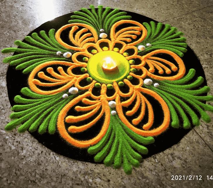 Excellent Diwali Rangoli