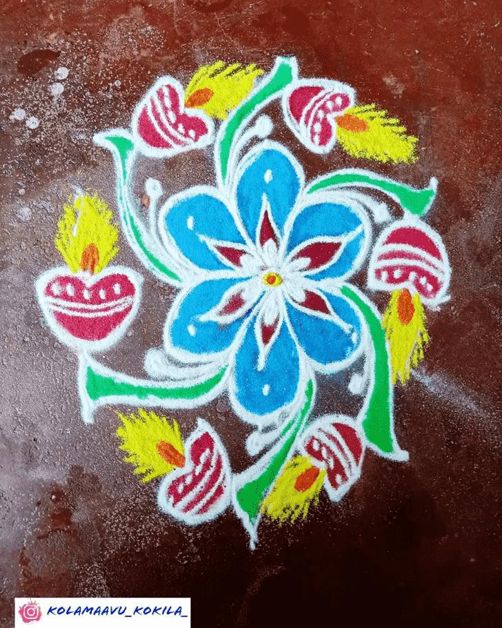 Fascinating Diwali Rangoli