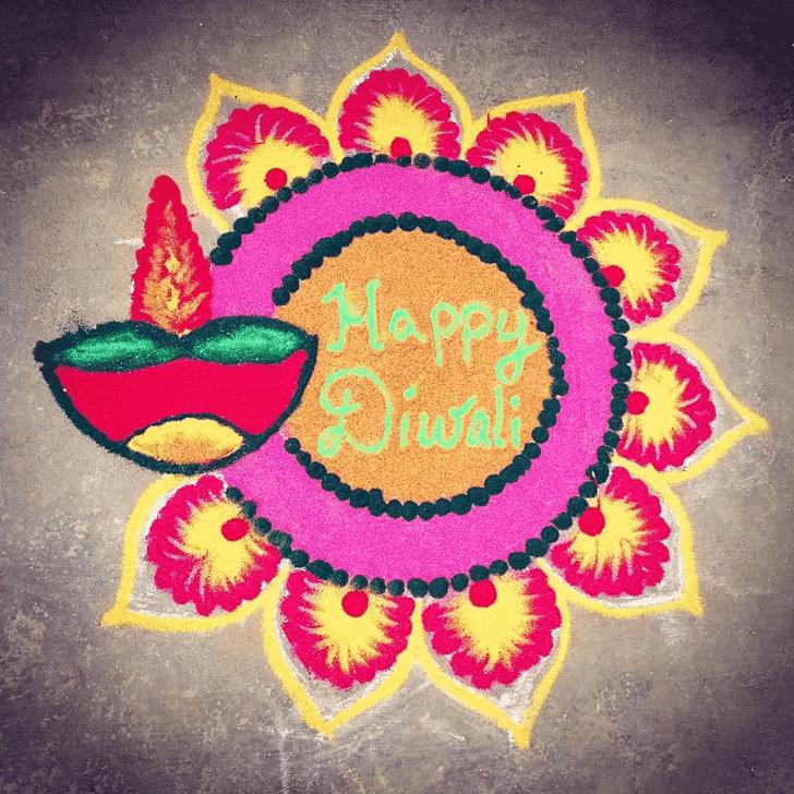 Graceful Diwali Rangoli