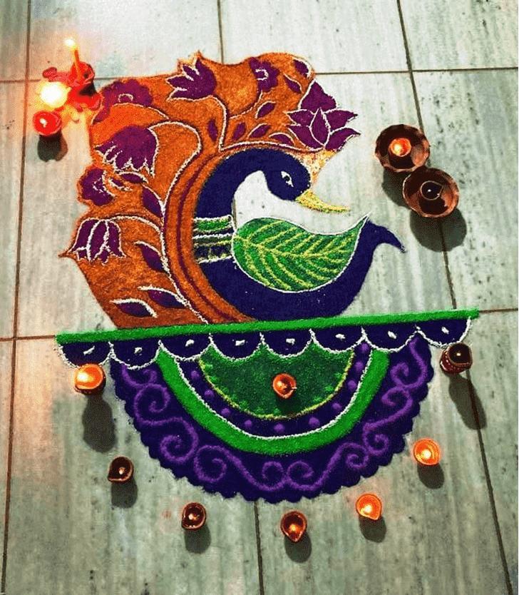 Awesome Diwali Rangoli