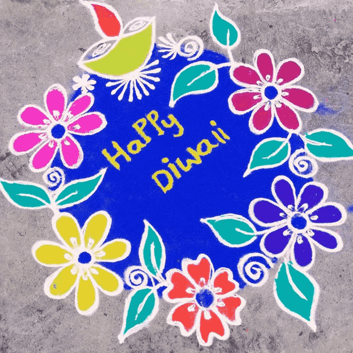 Ideal Diwali Rangoli