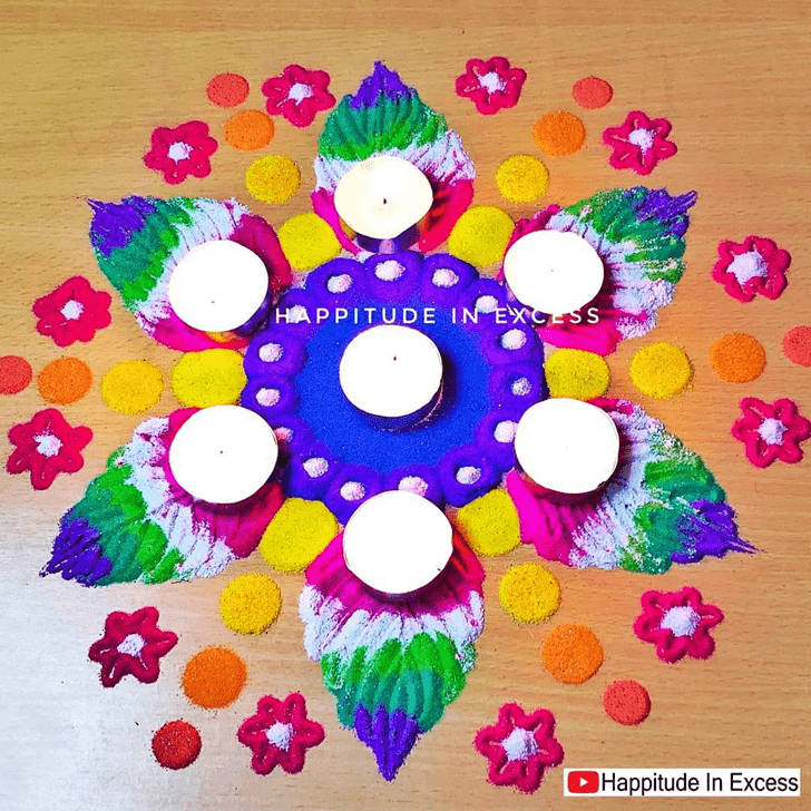 Inviting Diwali Rangoli