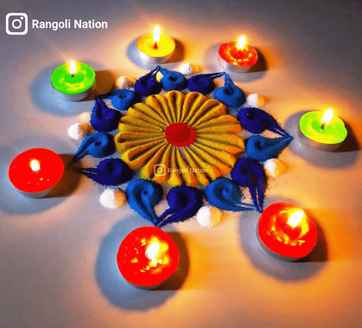 Lovely Diwali Rangoli Design