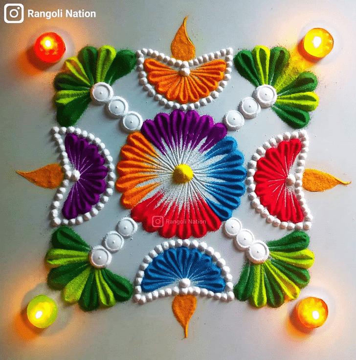 Magnificent Diwali Rangoli