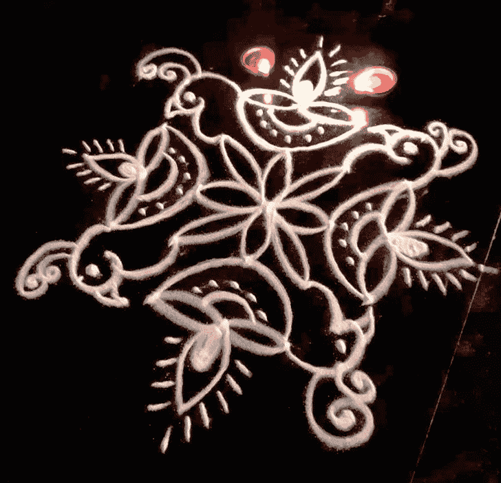 Mesmeric Diwali Rangoli
