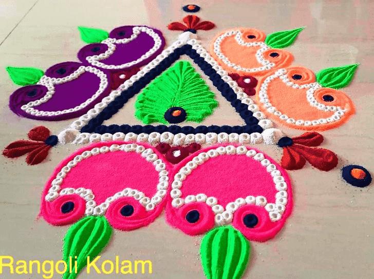 Nice Diwali Rangoli