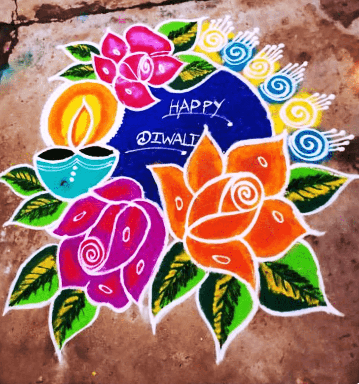 Pleasing Diwali Rangoli
