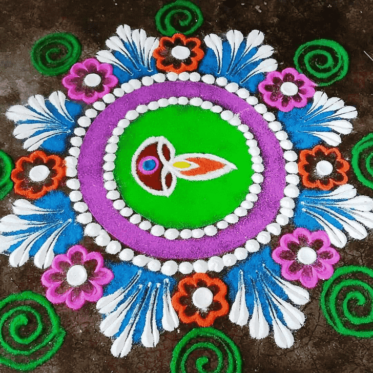 Radiant Diwali Rangoli