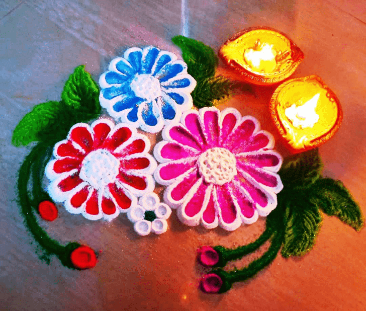 Superb Diwali Rangoli