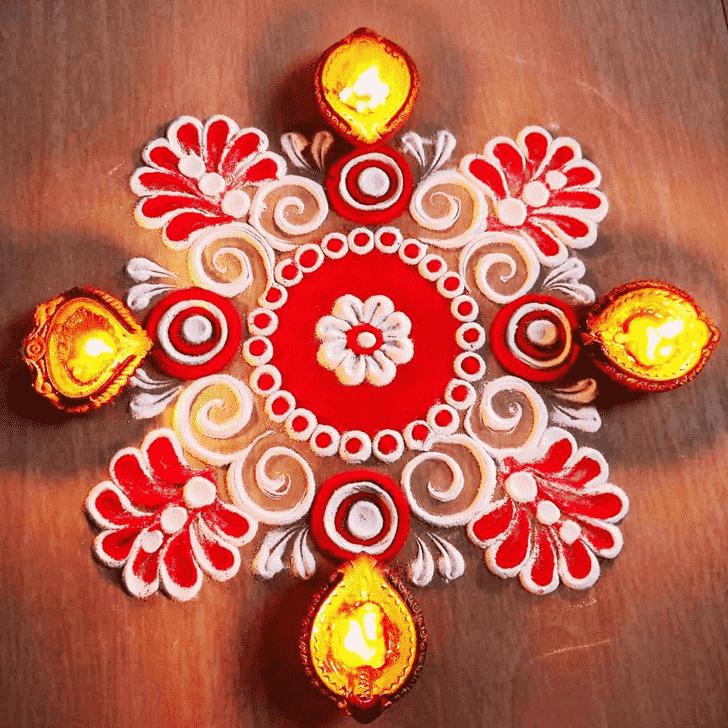 Wonderful Diwali Rangoli Design