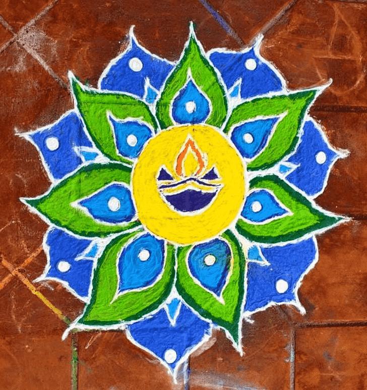 Alluring Diya Rangoli