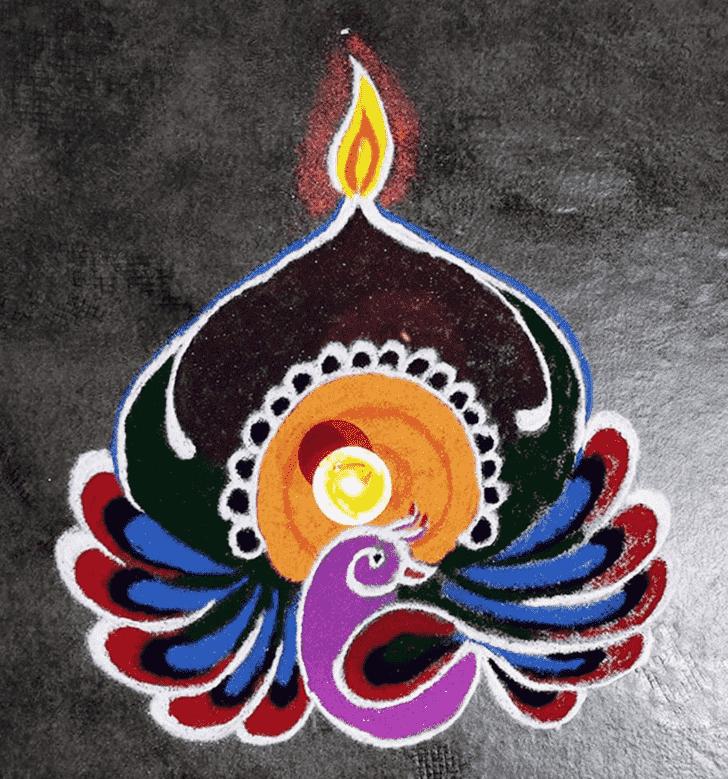 Angelic Diya Rangoli