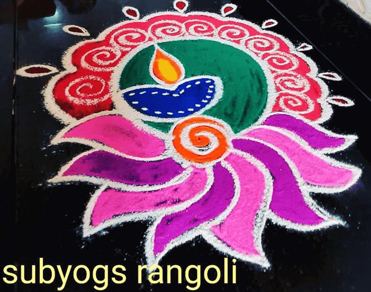 Grand Diya Rangoli