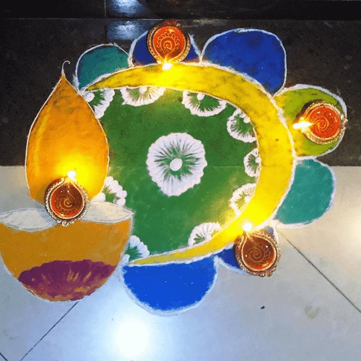 Ideal Diya Rangoli