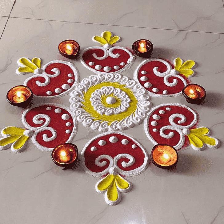 Radiant Diya Rangoli